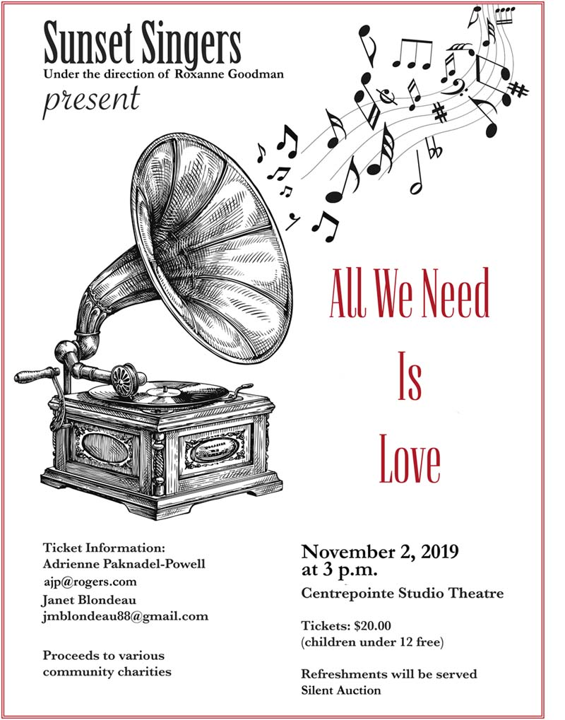 Sunset Singers Present All We Need is Love