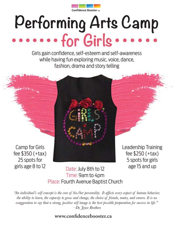Confidence Booster Camp for Girls